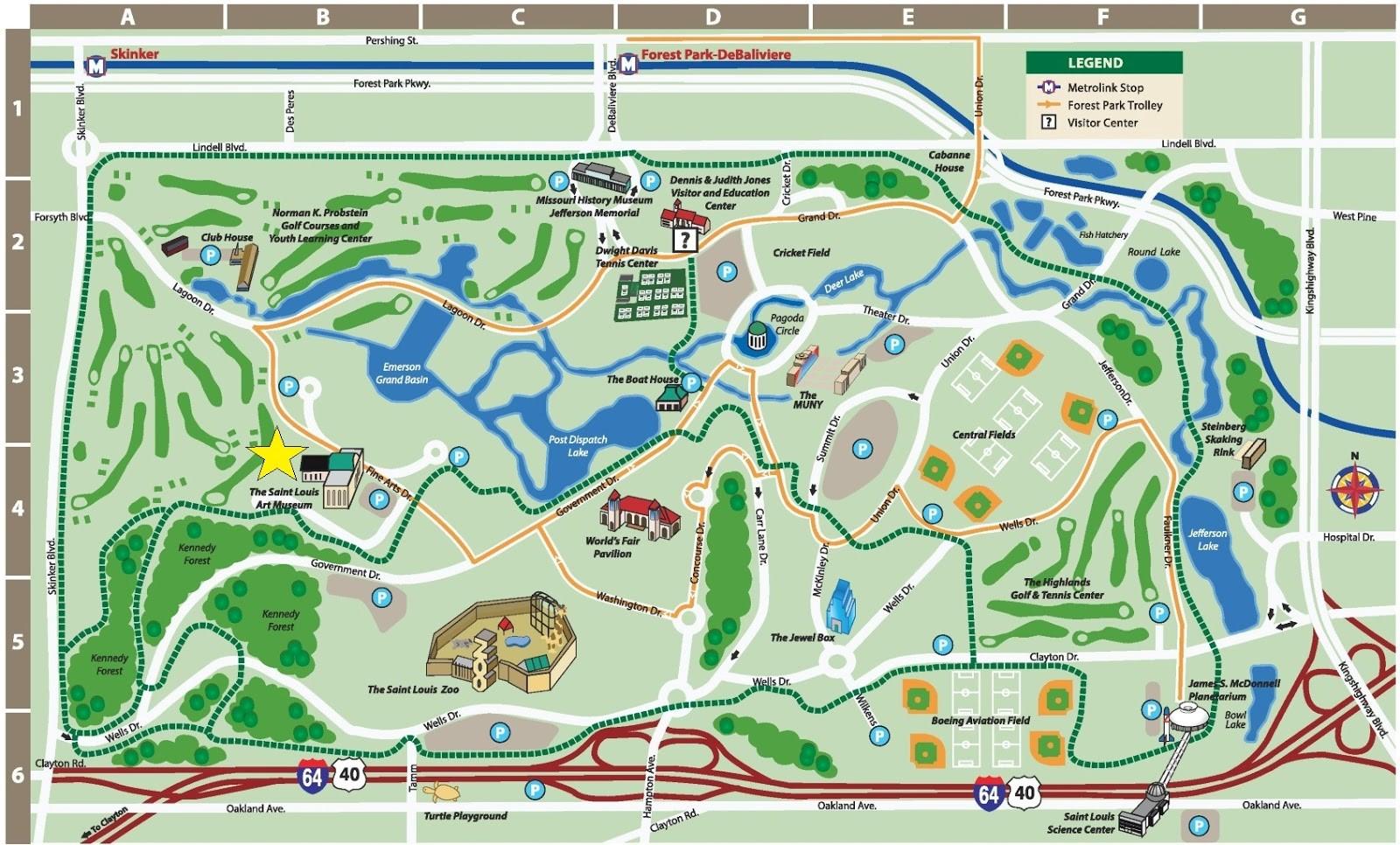 Map of Forest Park. Metrolink.