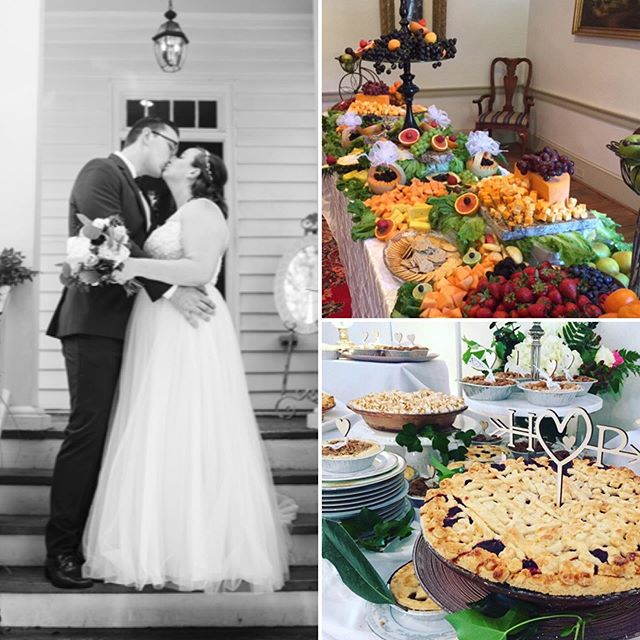 """We were over the moon with the wedding and venue. Thanks so much for all your help! Sincerely, Sandra Swindall""  Amazing pies by Suzanne of www.buttercreamsbakery.com  #bride #pies #weddingpies #southernwedding #weddingdecor #weddingfood #cakealternatives"