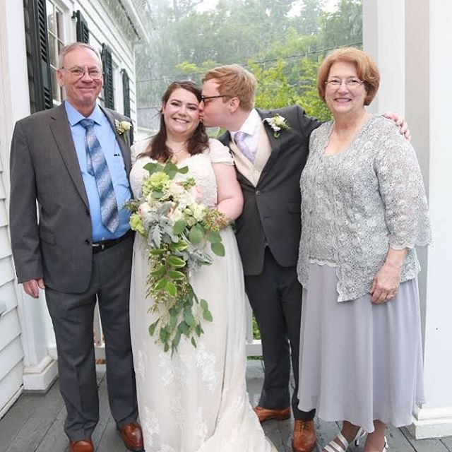 """The house is a perfect setting for a wedding and even though it rained, it was a magical event for our family and friends."" -Elizabeth  Congratulations, Sarah! #weddingvenue #southernwedding #georgiarain #rainisgoodluck #bride #decaturga #historicalwedding #historicalweddingvenue #decaturgaeventspace #magicalvenue"