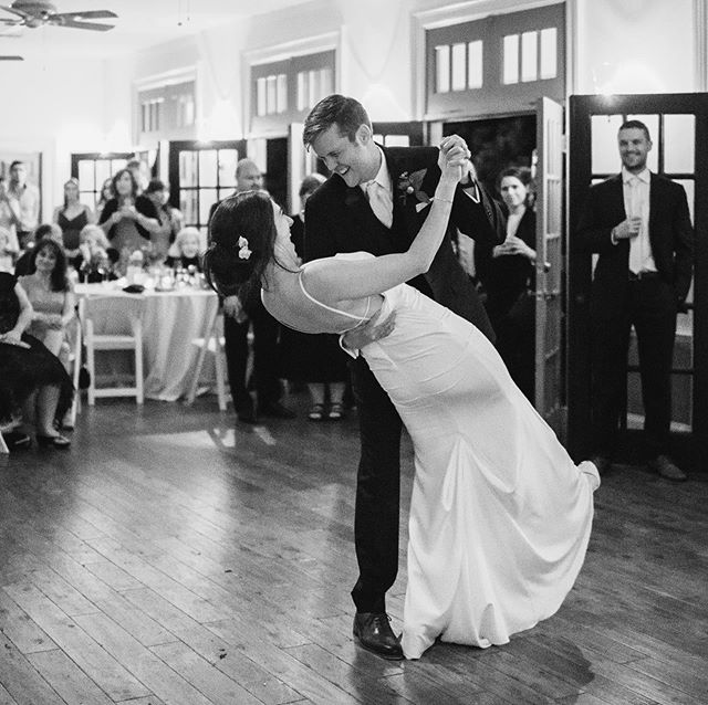 Plenty of room for dancing in the Simpson room! Congratulations, Christina and Patrick!  #weddingdance #reception #southernwedding #weddingparty #fallweddings #firstdance #historicvenue #loveisintheair  Photo credit: Kate Thompson, Betty Clicker Photography