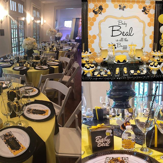 We were honored to have this gorgeous baby shower back in June. Welcome, Baby Beal! 🐝 🍼 🎉  Remember, we're a great venue for all types of events, not just weddings!  Photographer: Cat Harper Photography Planner: Sovaya's Couture Events  #beeautifulshower #babyshower #beetheme #showervenue #eventvenue #decaturevents #babyfever #babyshowerideas