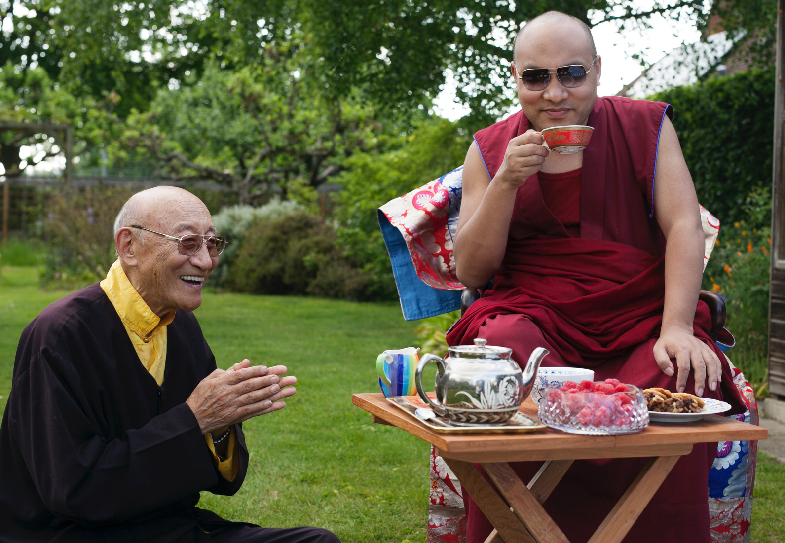 H.H. 17th Karmapa and Ato Rinpoche