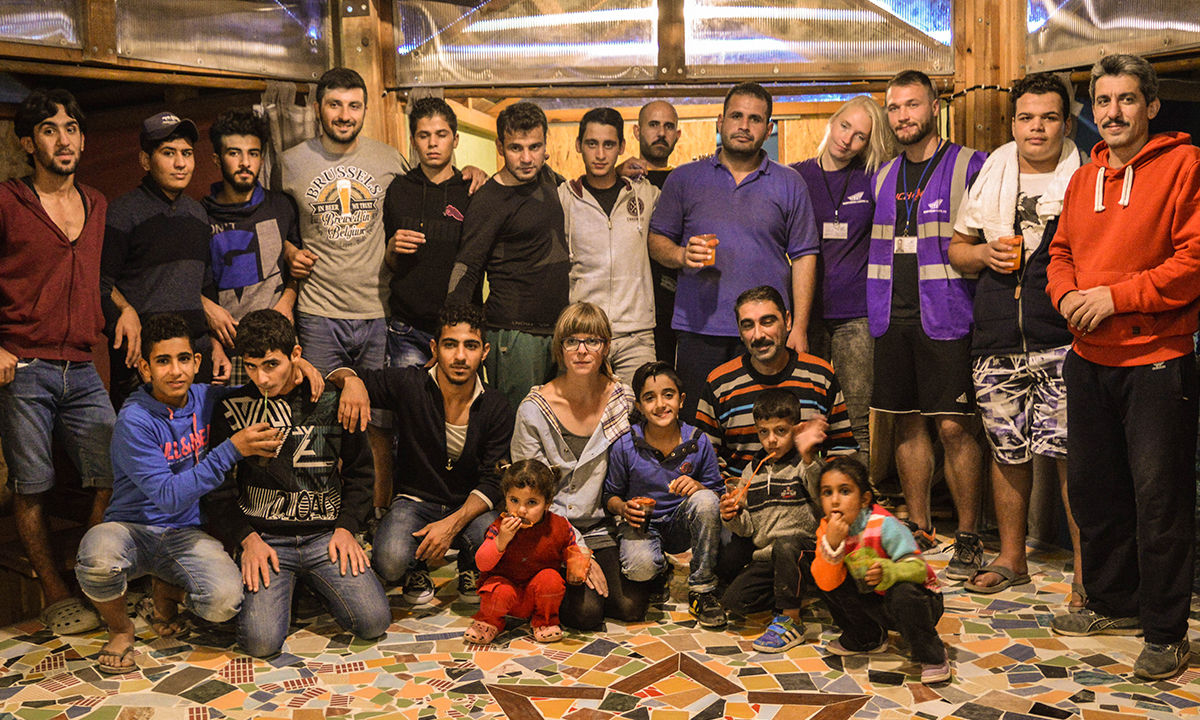 Roof for Humanity team l'Abri 2.0 in Kavala 2016