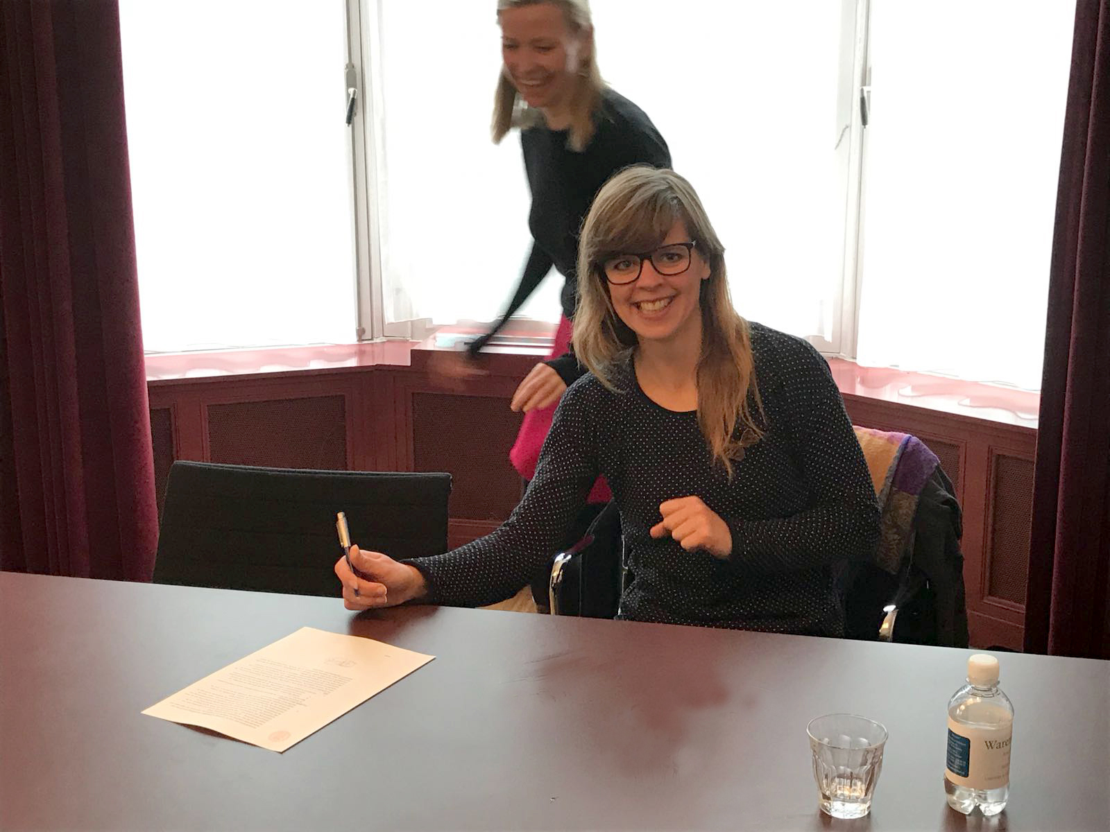 Signing the deed at Notary Warendorf, happy moment.