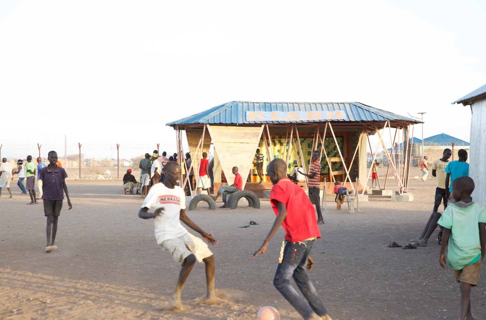 Klabu Sport Club House at Kallobeyei settlement village 1, Kenya