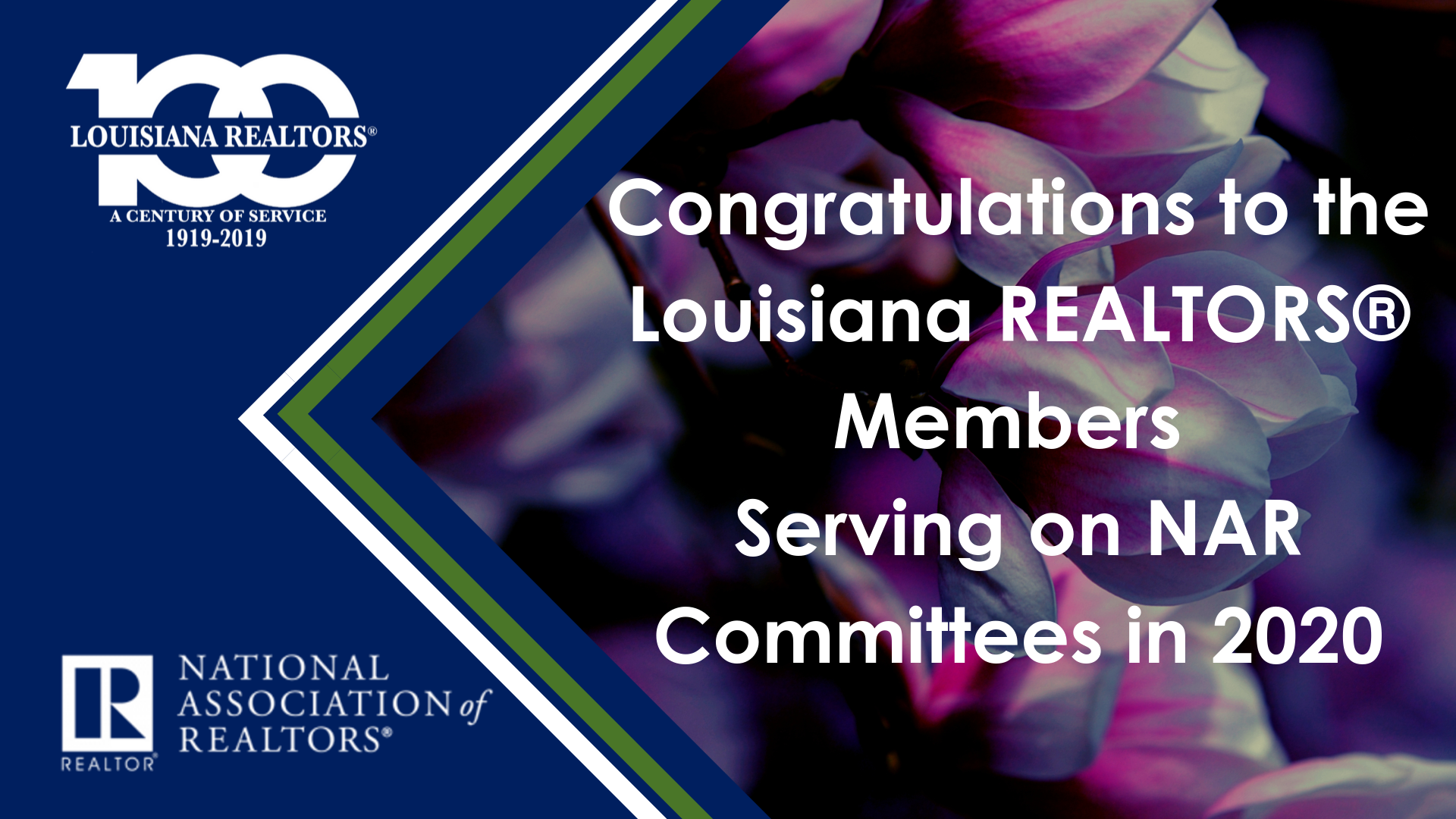 Congratulations Louisiana REALTORS® Members Serving on NAR Committees in 2020 (1).png