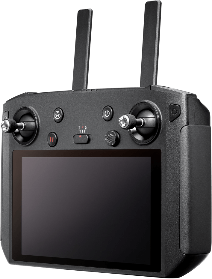 SMART CONTROLLER  Maximize your outdoor flying experience with the Mavic 2 or other equipped aircraft. A 5.5-inch built-in screen displays clear, bright images, even under challenging conditions.