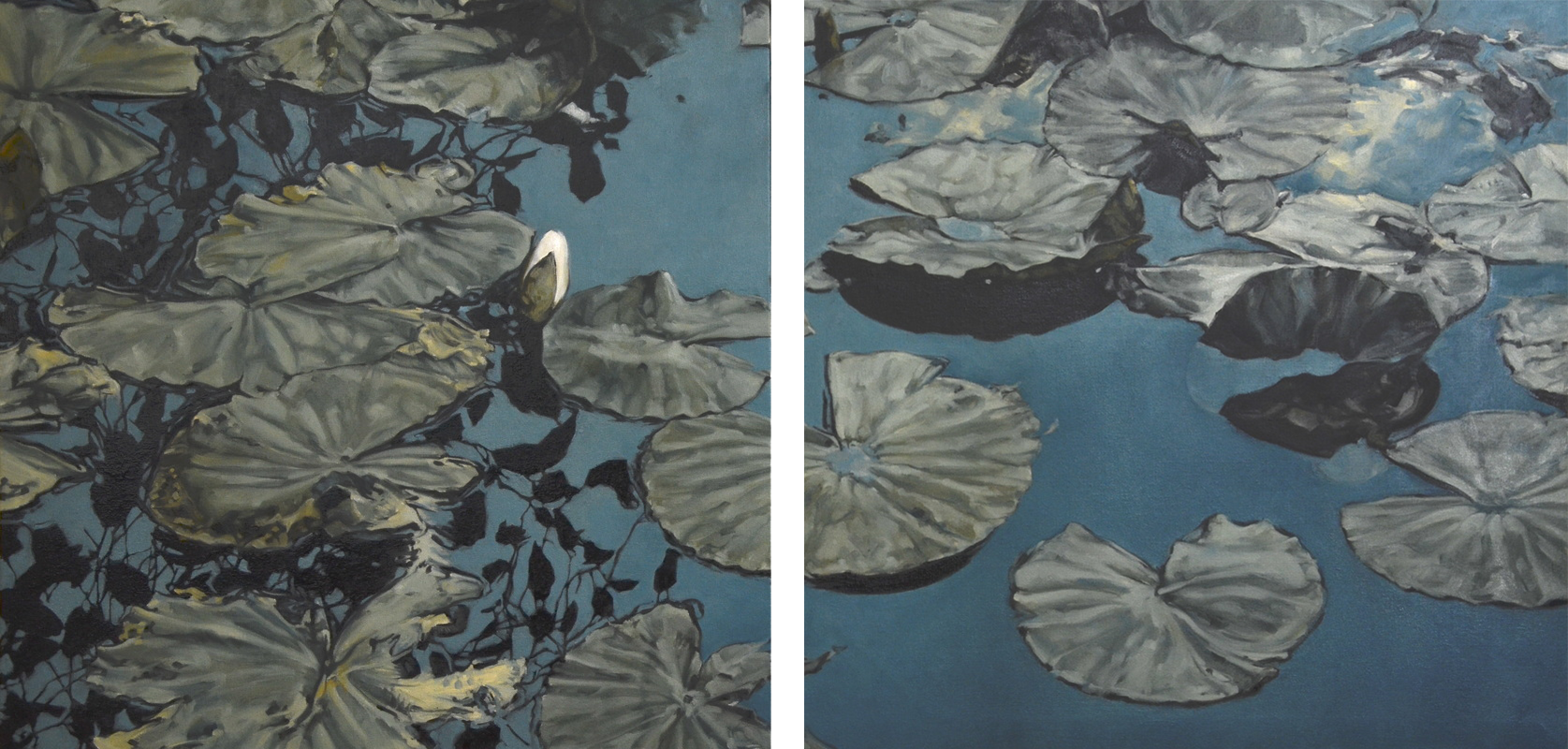 Lily Pad diptych