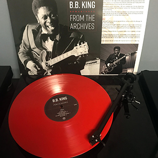 BB KING - Remastered From The Archives   Remastered by the legendary Vlado Meller A Books-A-Million Exclusive on 180g Red Vinyl     Limited to 700 copies    The album features newly-remastered recordings of the Blues Hall Of Famer from 1950 through 1960, taken from performances in Memphis and Los Angeles along with an all-star cast of sidemen, including drummer Jesse Sailes, saxophonists Richard Sanders and Solomon Hardy, pianists Lloyd Glenn and Ford Nelson, and The Count Basie Orchestra.  Album: Remastered From The Archives [  BUY IT HERE  ] Label: Red Bank Records /  Mono Stereo