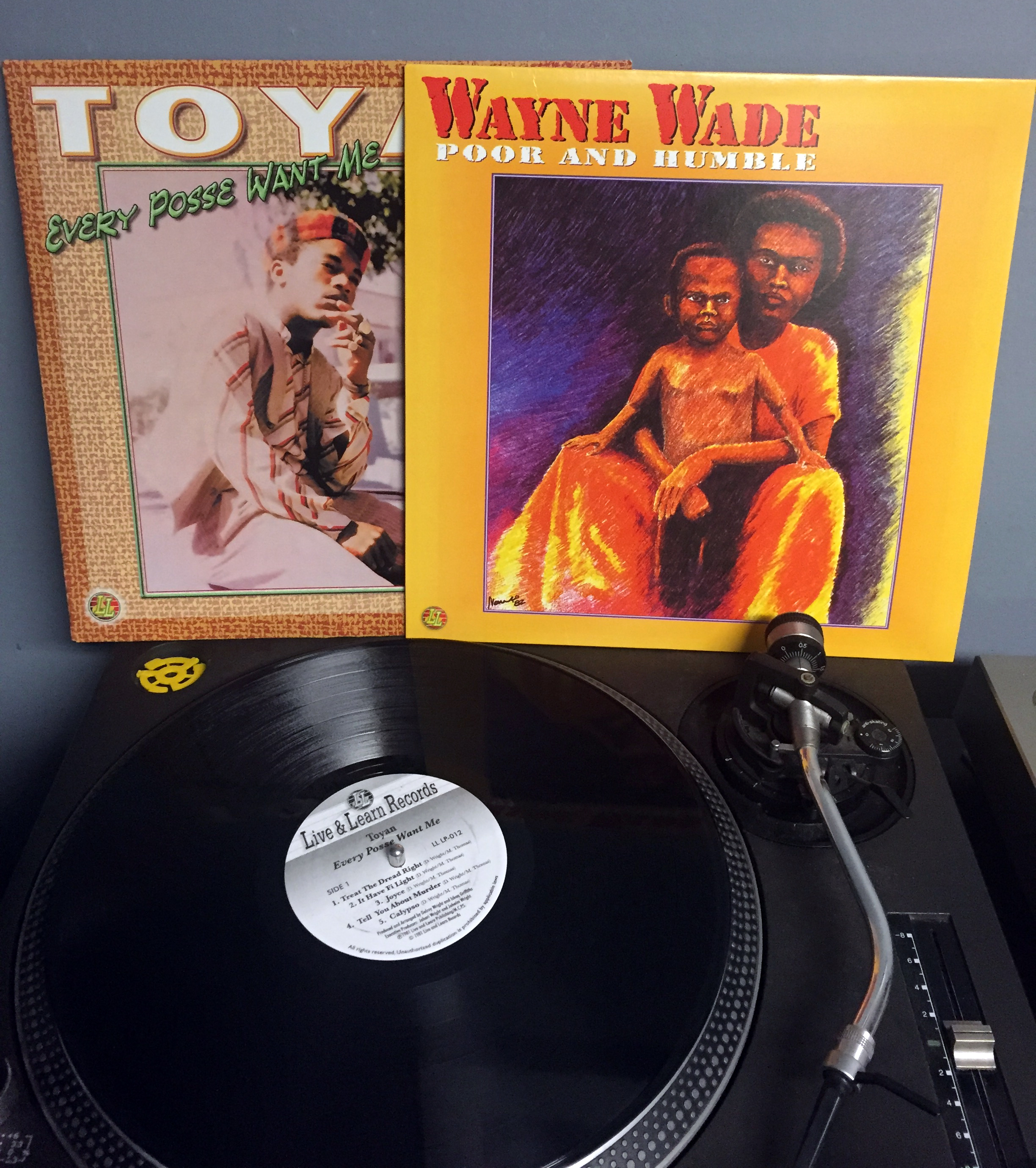 TOYAN -  Every Posse Want Me &  WAYNE WADE  - Poor and Humble   Label: Live and Learn Records [ @ Discogs ]