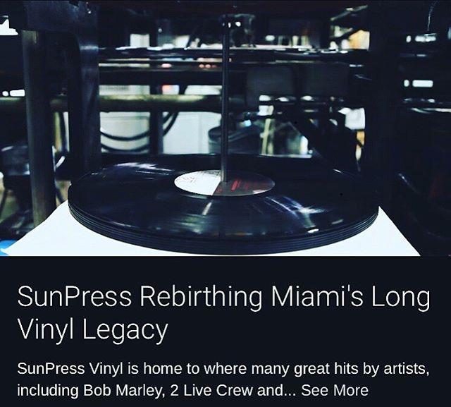 Take a look at the NBC6 story on SunPress Vinyl. Link in bio. #recordpressing #vinylrecords #vinylpressing #miamilegacy #studioone #reggaemusic #sunpressvinyl #analogsound #recordstoreday