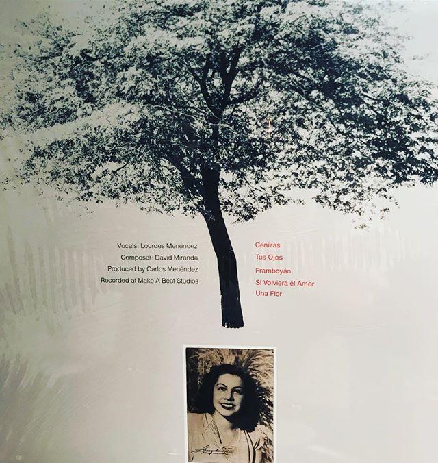 """Cenizas"", produced by Carlos Menendez to honor the memory of his grandmother ""Berta Corzo"". #cenizas #bertacorzo #sunpressvinyl #freshpressedvinyl #vinylpressing #vinylrecords #familyinspired #musiclivesforever #clientswhoinspire"