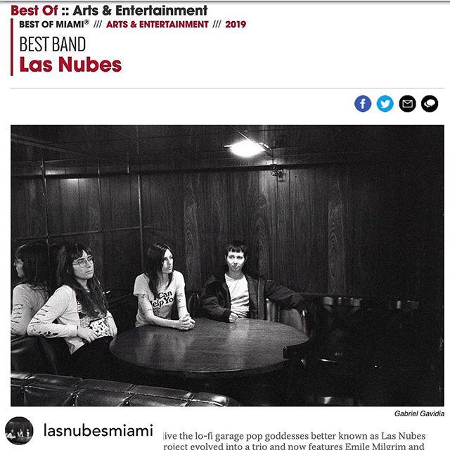A big congrats to Las Nubes!!! #sunpressvinyl #freshpressedvinyl #vinylpressing #vinylrecords #lasnubes #miaminewtimes #bestof #bandsthatrock #goodlookingrecords #happyclients