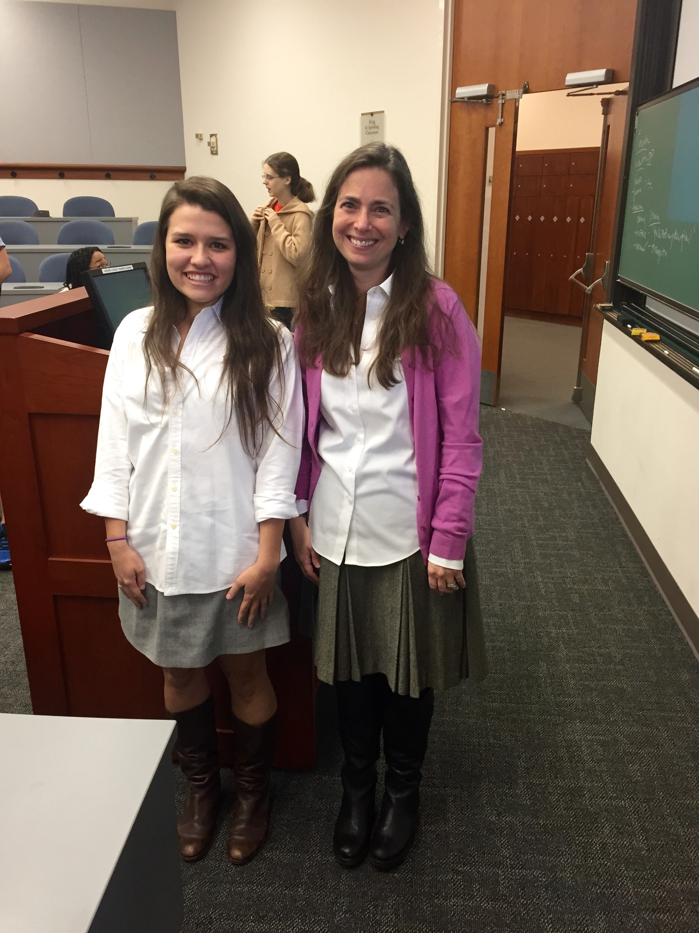 Grace O'Donnell dressed as Prof. Ferzan for Halloween. Can you tell them apart? Courtesy of Prof. Ferzan