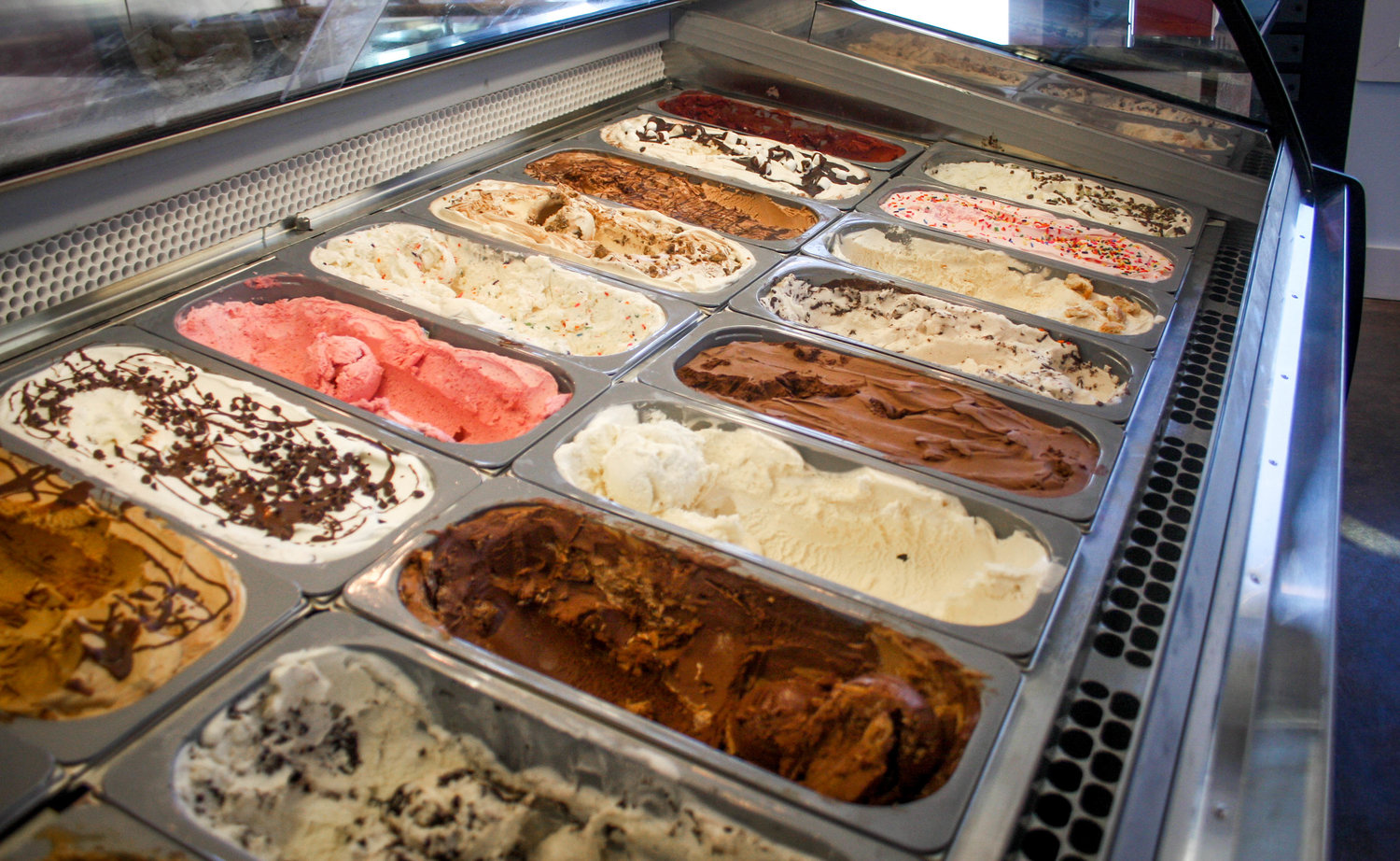 Just some of the classic flavors available at Crozet Creamery. Photo courtesy Crozet Creamery.