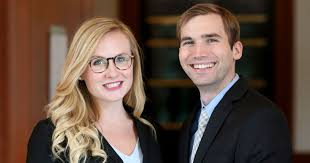 From left to right: Katharine Collins '19 and Christopher Macomber '19. Photo courtesy of University of Virginia School of Law.