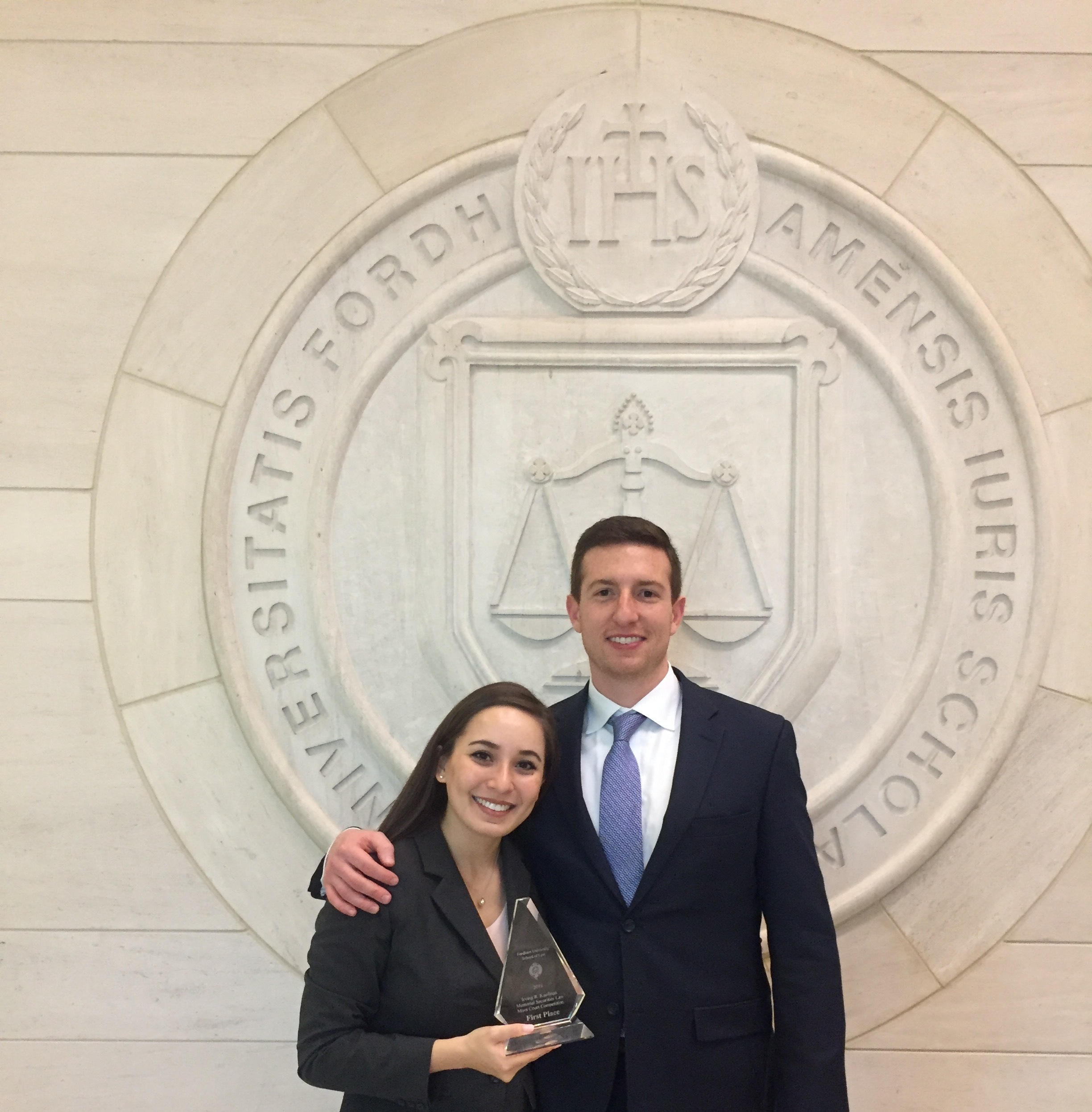 Trina Rizzo '19 and Phil Doerr '20 argued before Associate Supreme Court Justice Samuel Alito to claim first place at the extramural moot court team's final tournament of 2018.