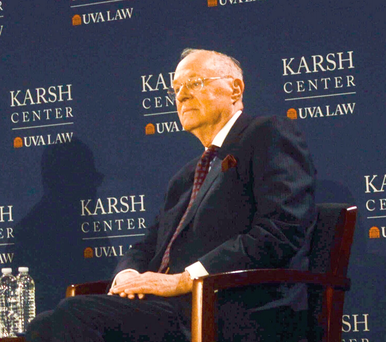 Retired Justice Kennedy onstage. Photo Kolleen Gladden '21.