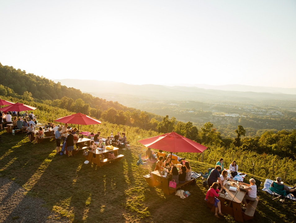 Another beautiful sunset at Carter Mountain Orchards. Photo courtesy of afar.com
