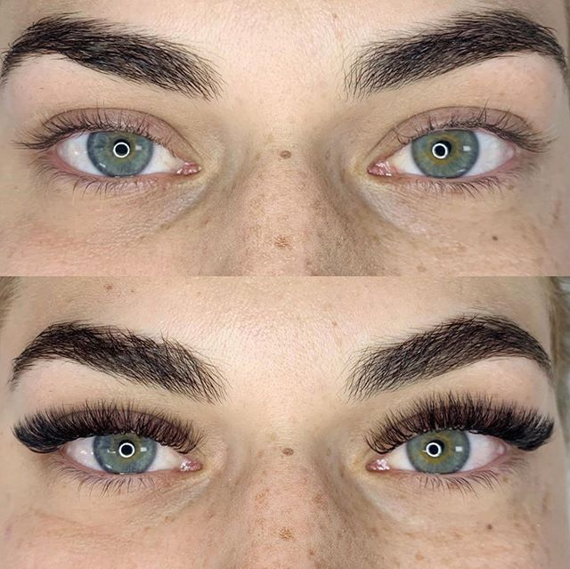 Brows and volume lashes by Jessica on our very own Summer! 👯♀️