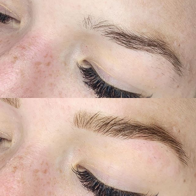 Before and after HENNA BROWS by Jessica.💋
