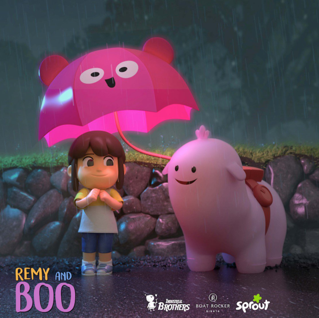 """SPOTLIGHT ON: REMY AND BOO   Check out the adorable animation for the upcoming children's series, """"Remy & Boo""""  Remy & Boo follows five-year old Remy and her robot friend Boo, who is programmed to learn and feel real emotions. The show follows their journey of love, friendship, and what it truly means to be human. The series is set in the near future and was created by the Industrial Brothers' and will be produced by Boat Rocker Studios.  We're almost done with the script reports for the series. It's such a sweet show that reminds us of the importance of friendship and teamwork."""