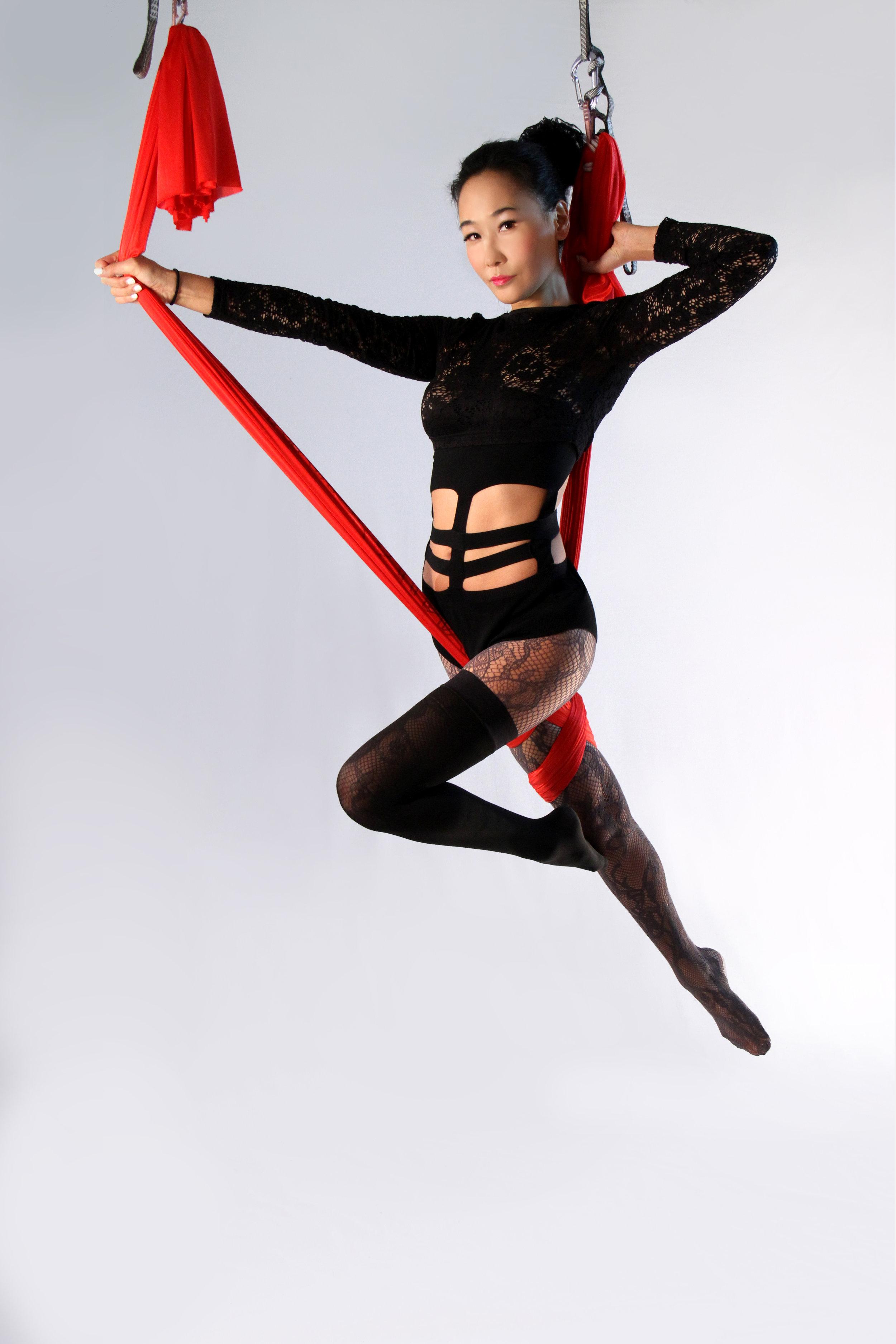 "2014 - ""Dragon Lady"" (Robin Hood Pose) Antigravity Lab, NYC"