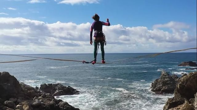 Bridge, waterfall, and crashing waves aerial silk photoshoot .  Full episode on YouTube @projectflowmance . . . #dji #circusaroundtheworld #aerialsilks #circus #aerialsilks #photography #vanlife #bigsur #dronephotography @projectflowmance