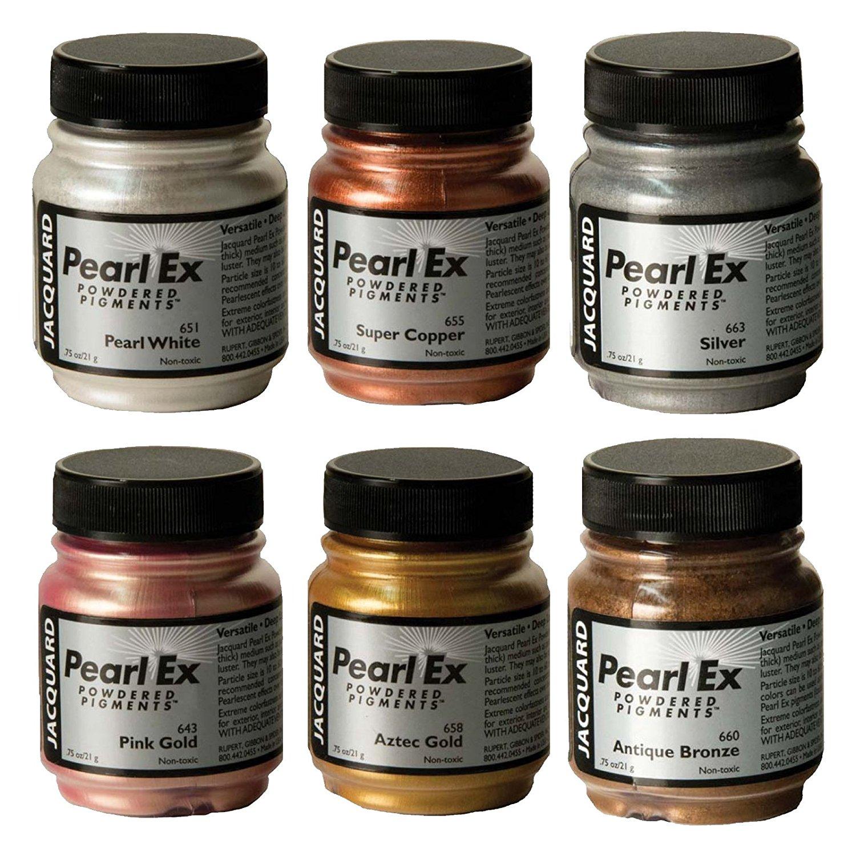 Pearl Ex Pigment Metallic 6 Color Set