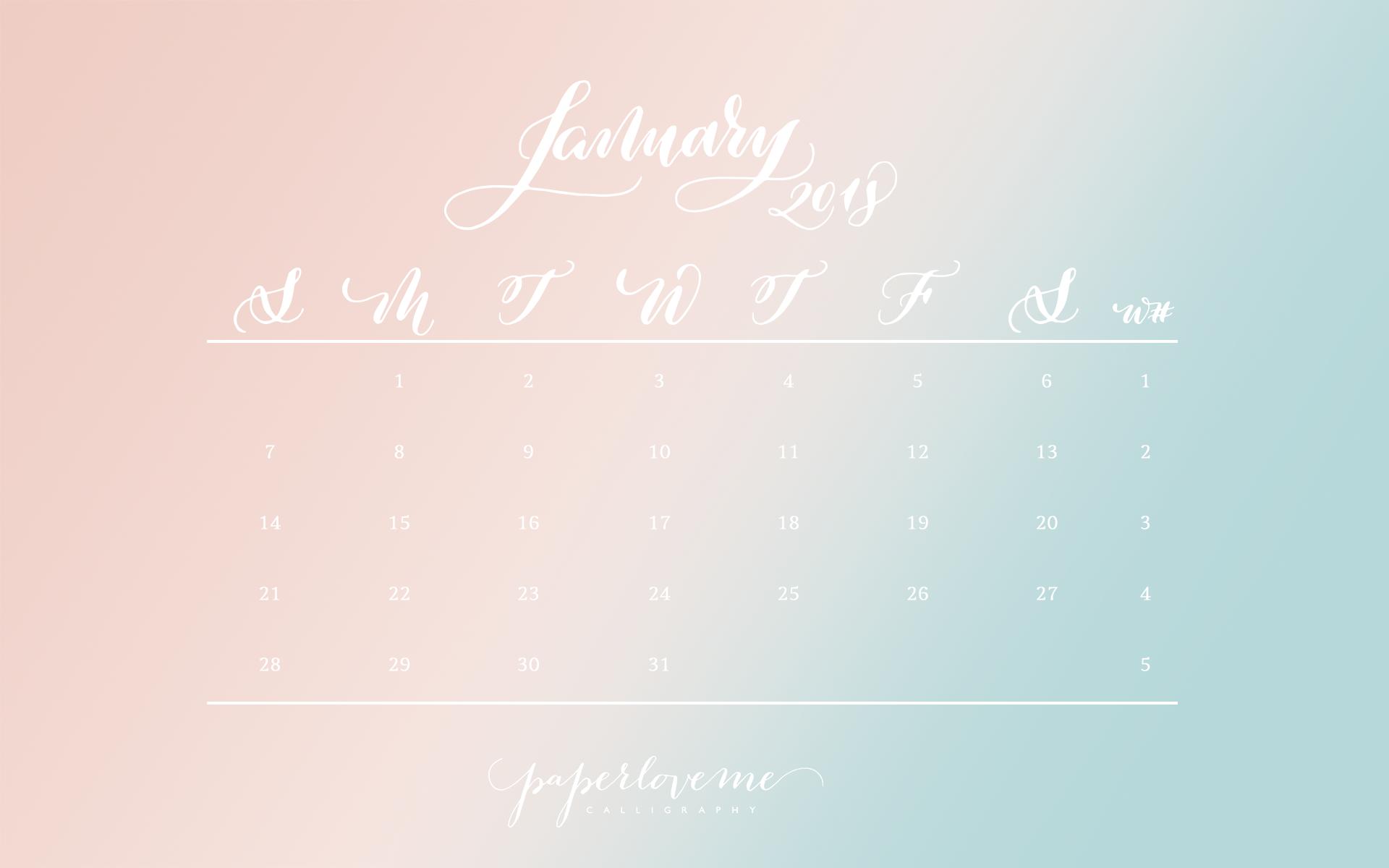 free january 2018 calendar download