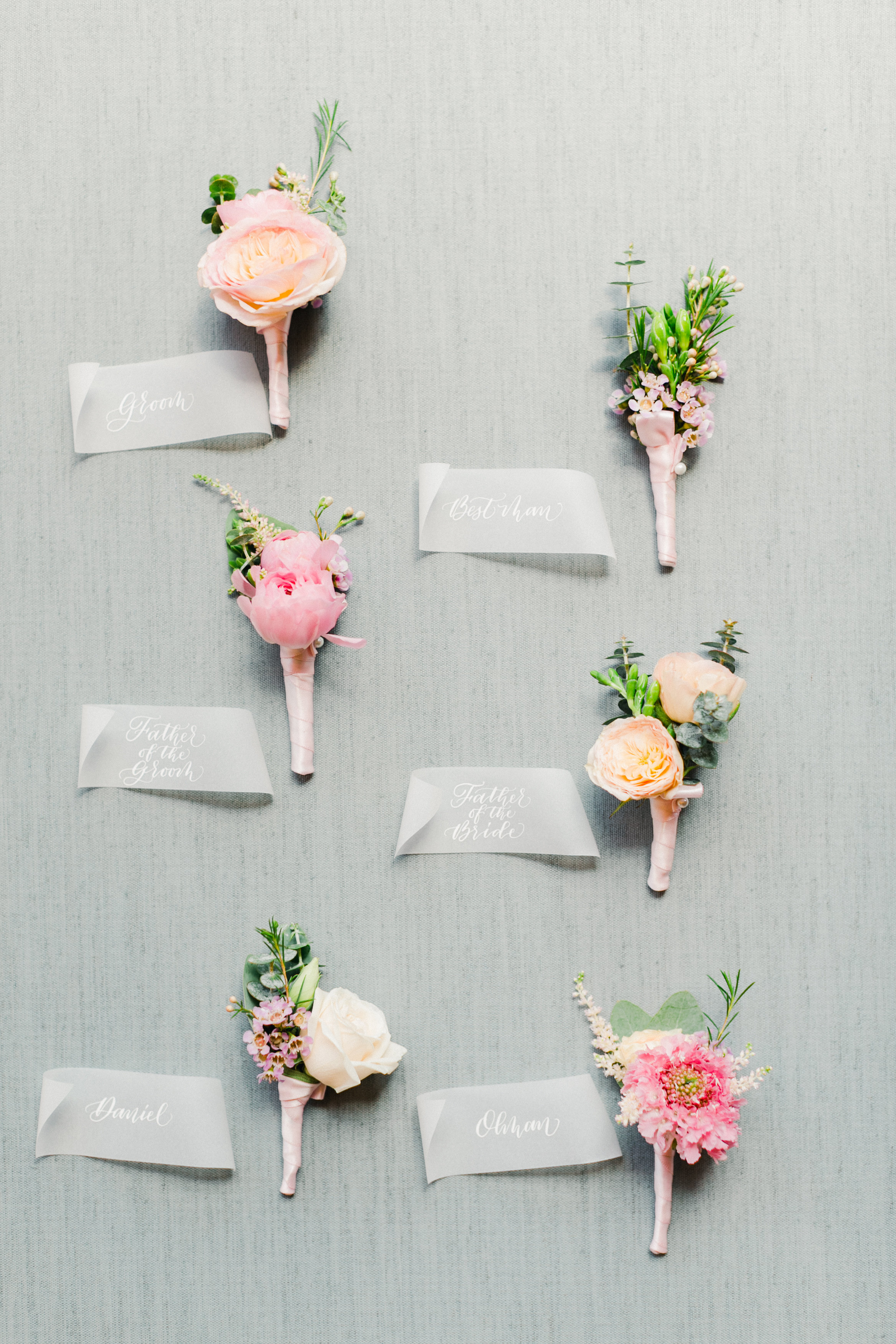 Calligraphy Place Cards and Escort Cards