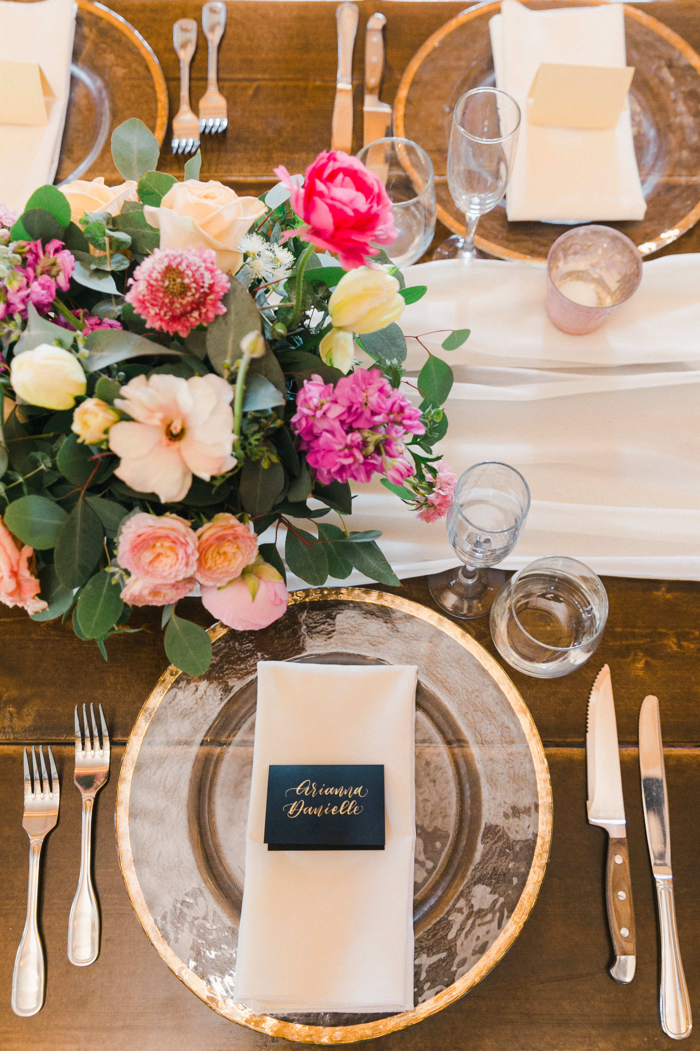Place Cards and Escort Card calligraphy