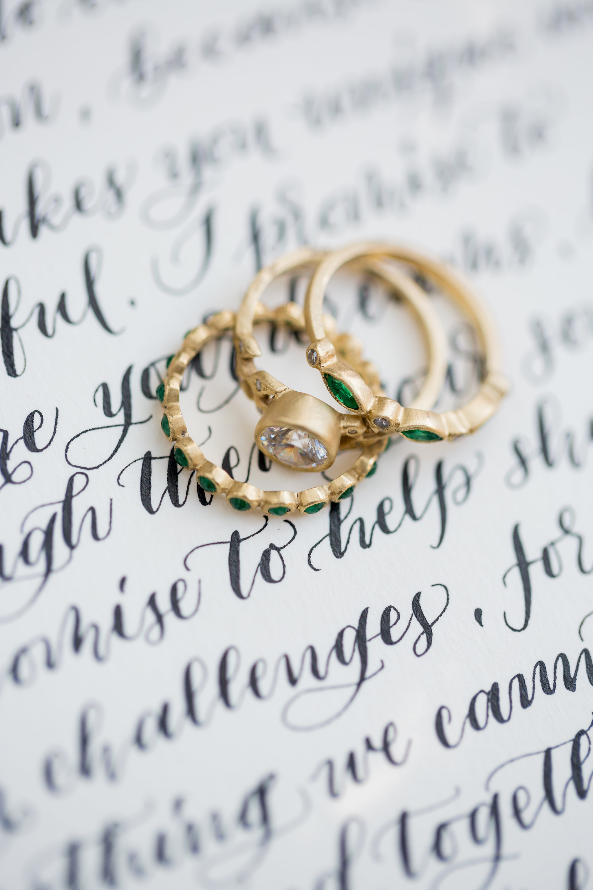 Elopement Announcement Esmerald and Gold Inspired by Paperloveme Calligraphy121.jpg