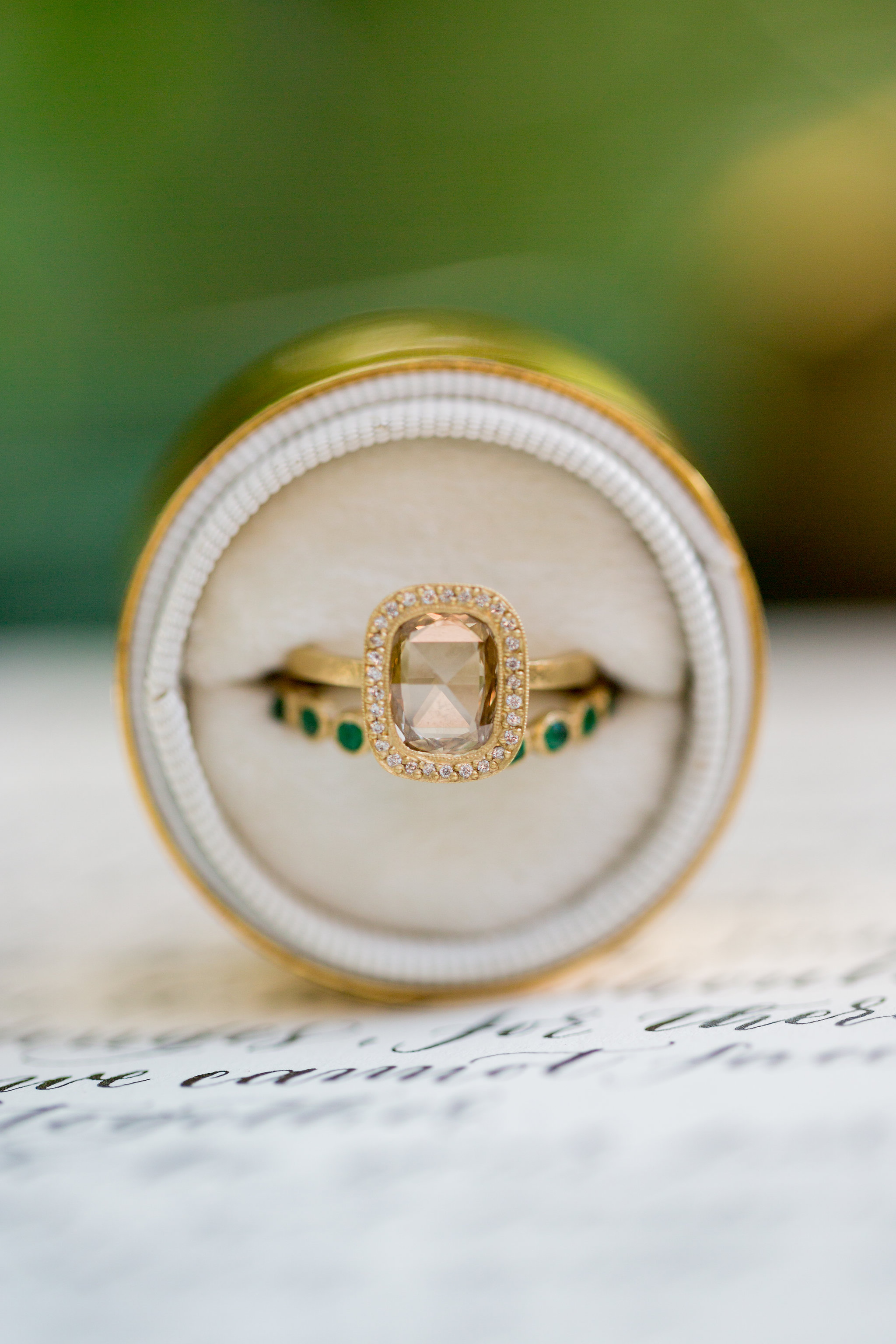 Elopement Announcement Esmerald and Gold Inspired by Paperloveme Calligraphy145.jpg