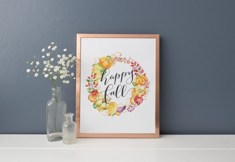 FREE PRINTABLE DOWNLOAD - Happy Fall Printable Decor