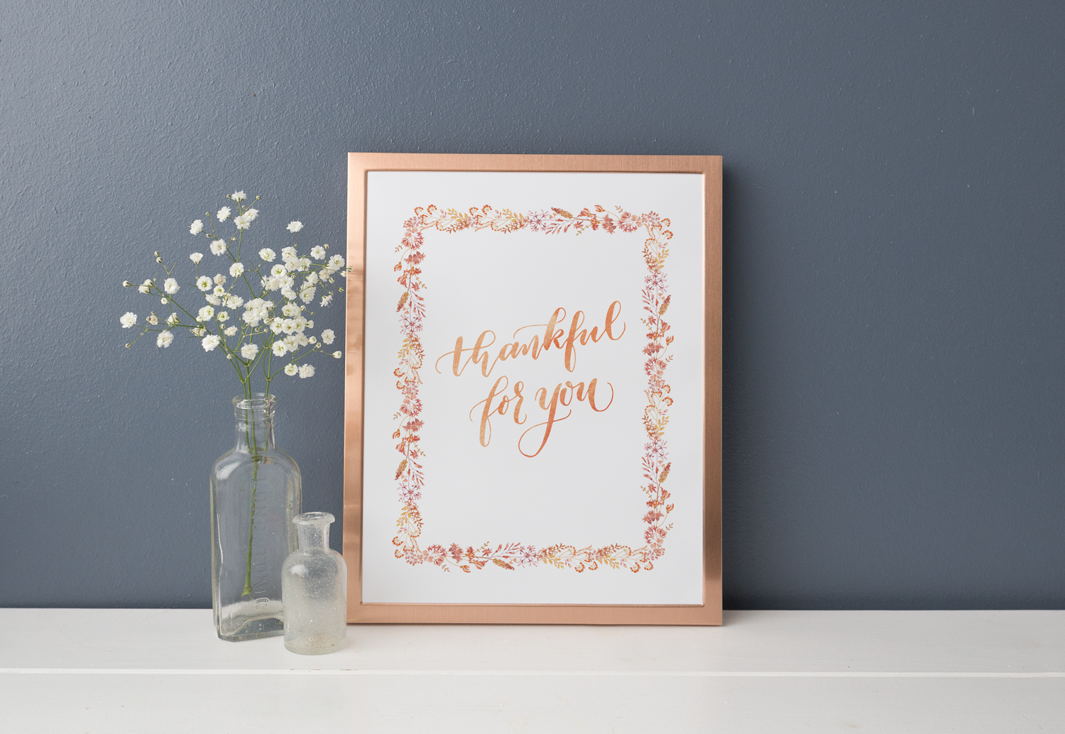 Thankful for you - Thanksgiving Free Printable. Print on a 8x10 cardstock.
