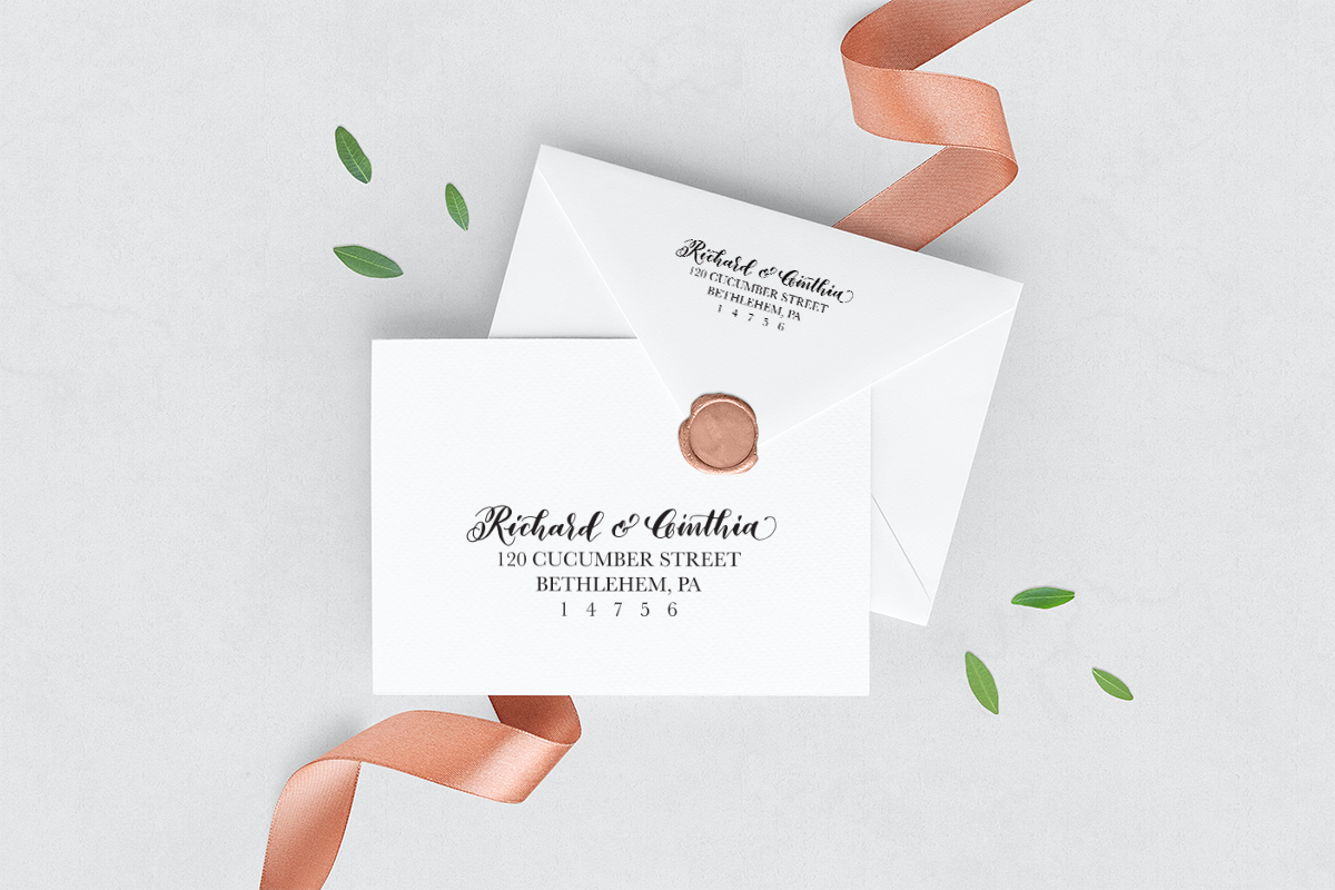 Mounted Personalized Return Address Stamp