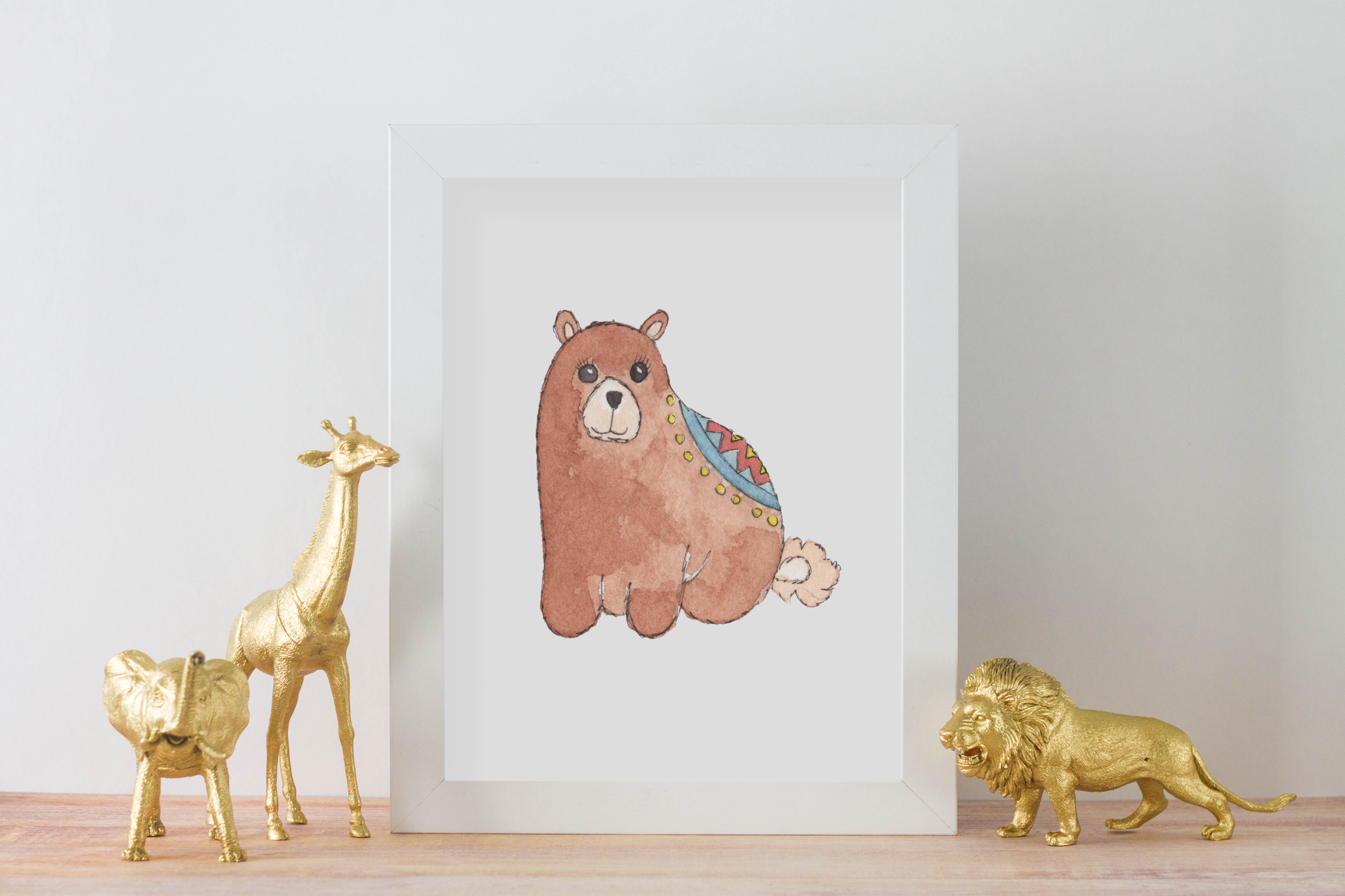 Personalized Cute Baby Bear for Baby Room   Christmas Gift for Baby Room