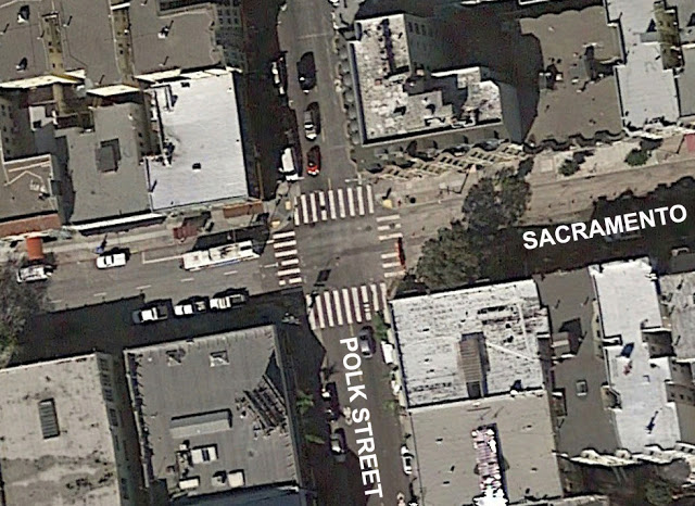 [Image: Aerial view of Polk Street at Sacramento Street, San Francisco]