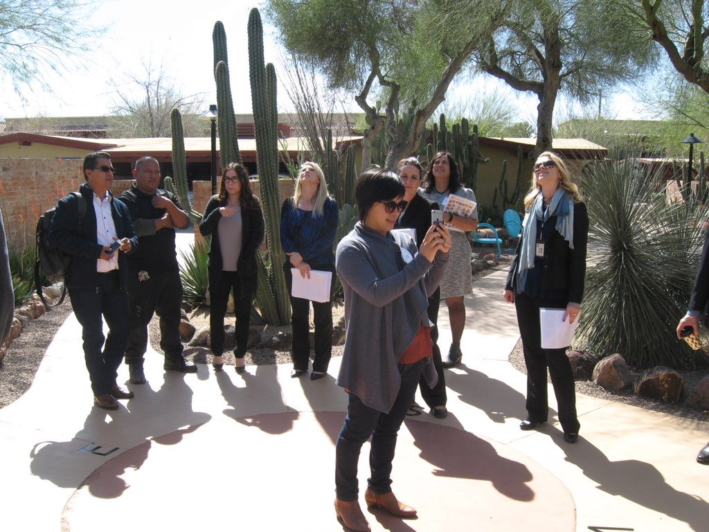 At the Pasqua Yaqui Museum in Tucson, Arizona during a Peer Exchange Panel for the Rose Center.