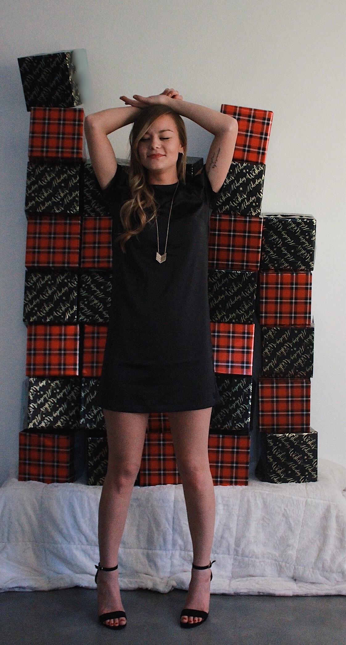 Women's Black Satin Slip Dress