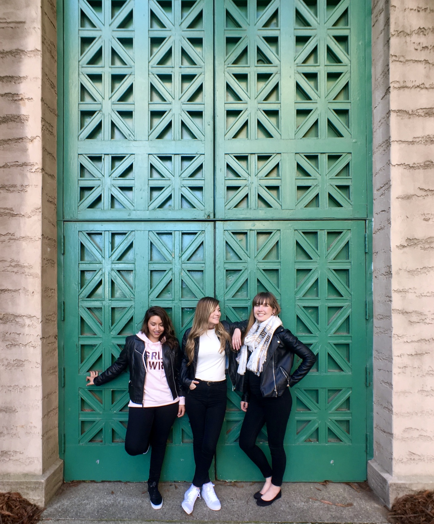 Teal Door at the Palace of Fine Arts in San Francisco California