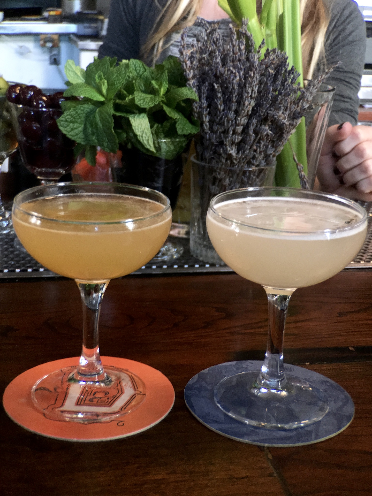 Cocktails from The Dorian in the San Francisco Marina District