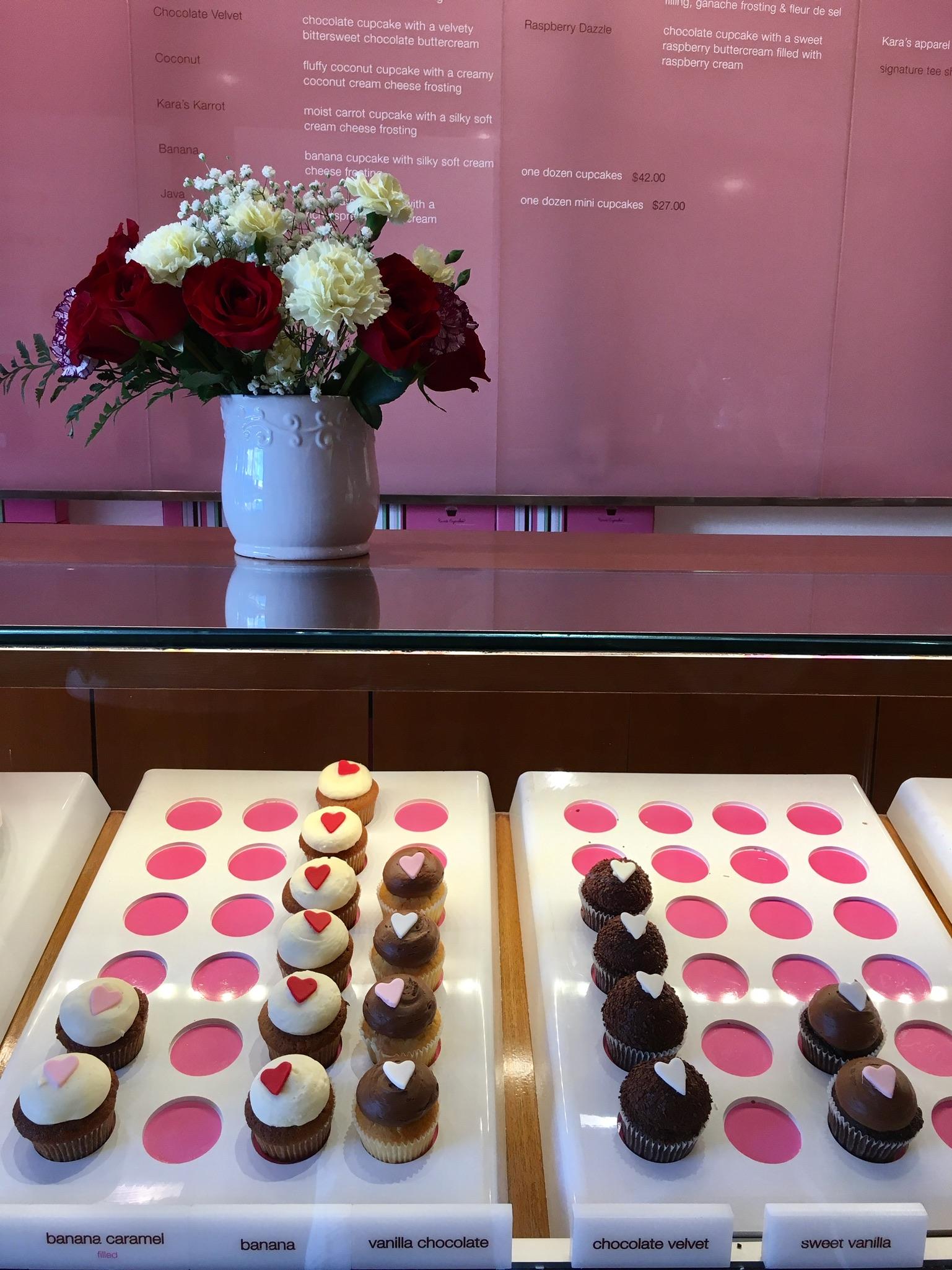 Cupcake Display at Kara's Cupcakes in San Francisco California