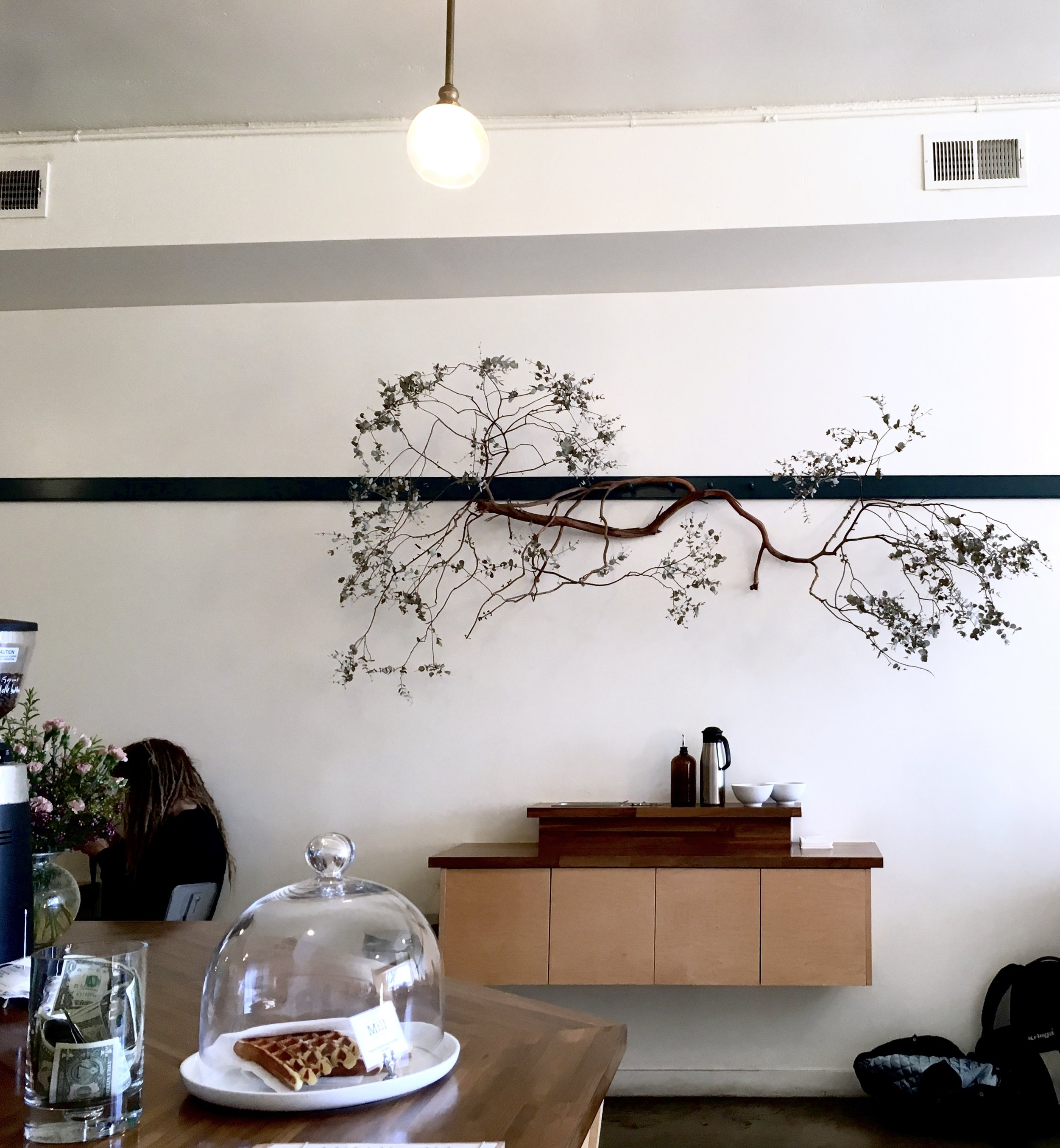 Interior Wall Art at The Mill Coffee Shop