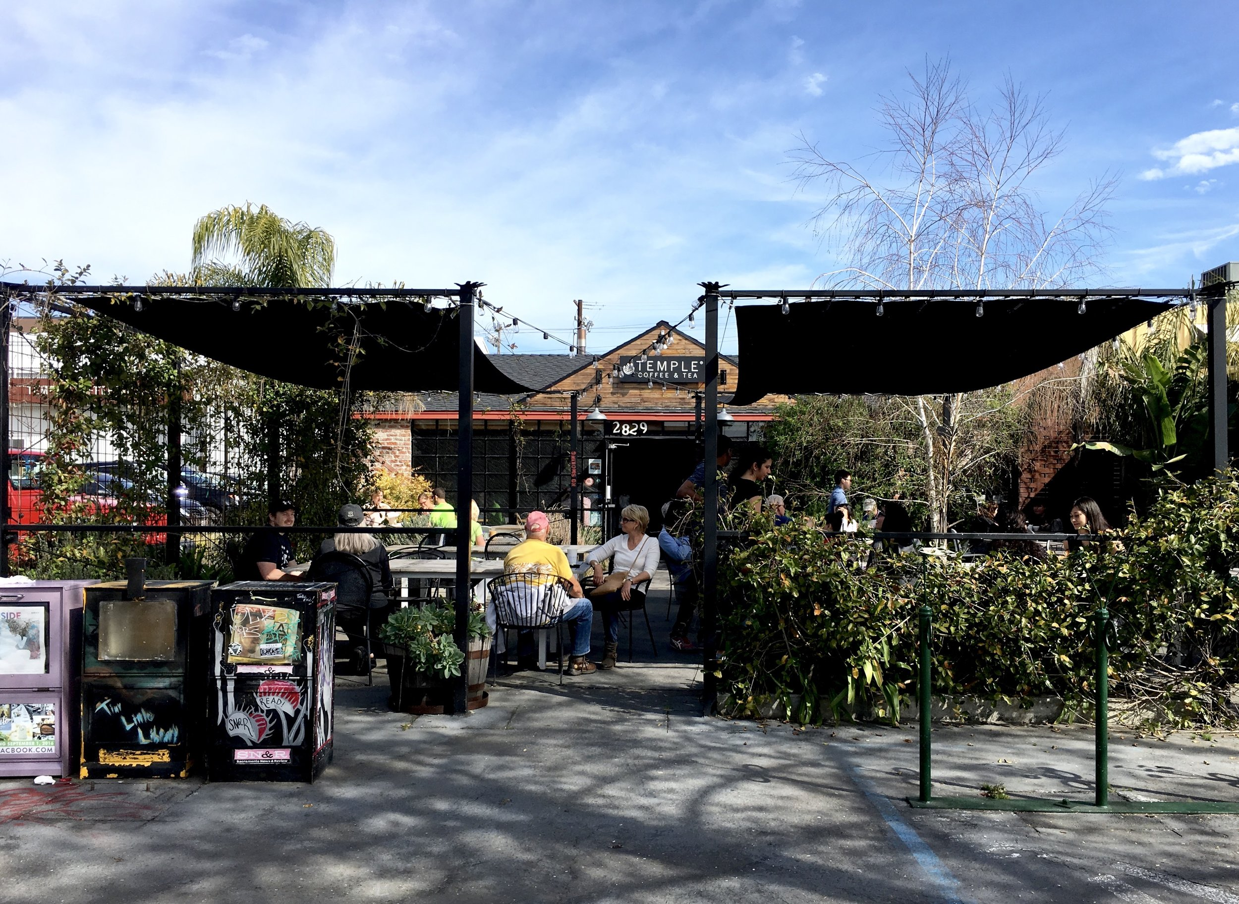 The Patio at Temple Coffee Roasters in Downtown Sacramento