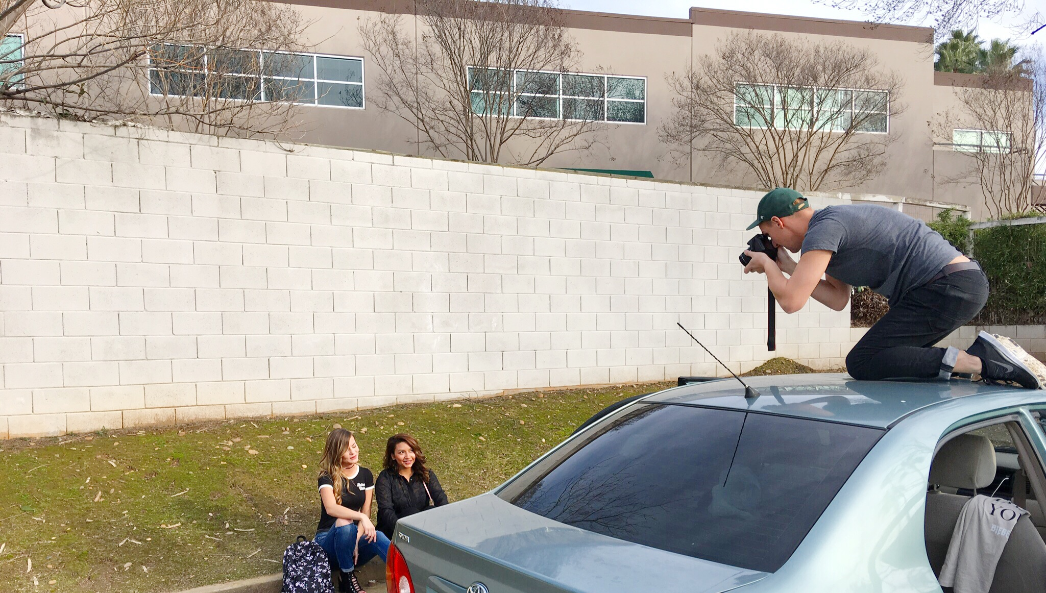 Getting the Shot on Top of a Car