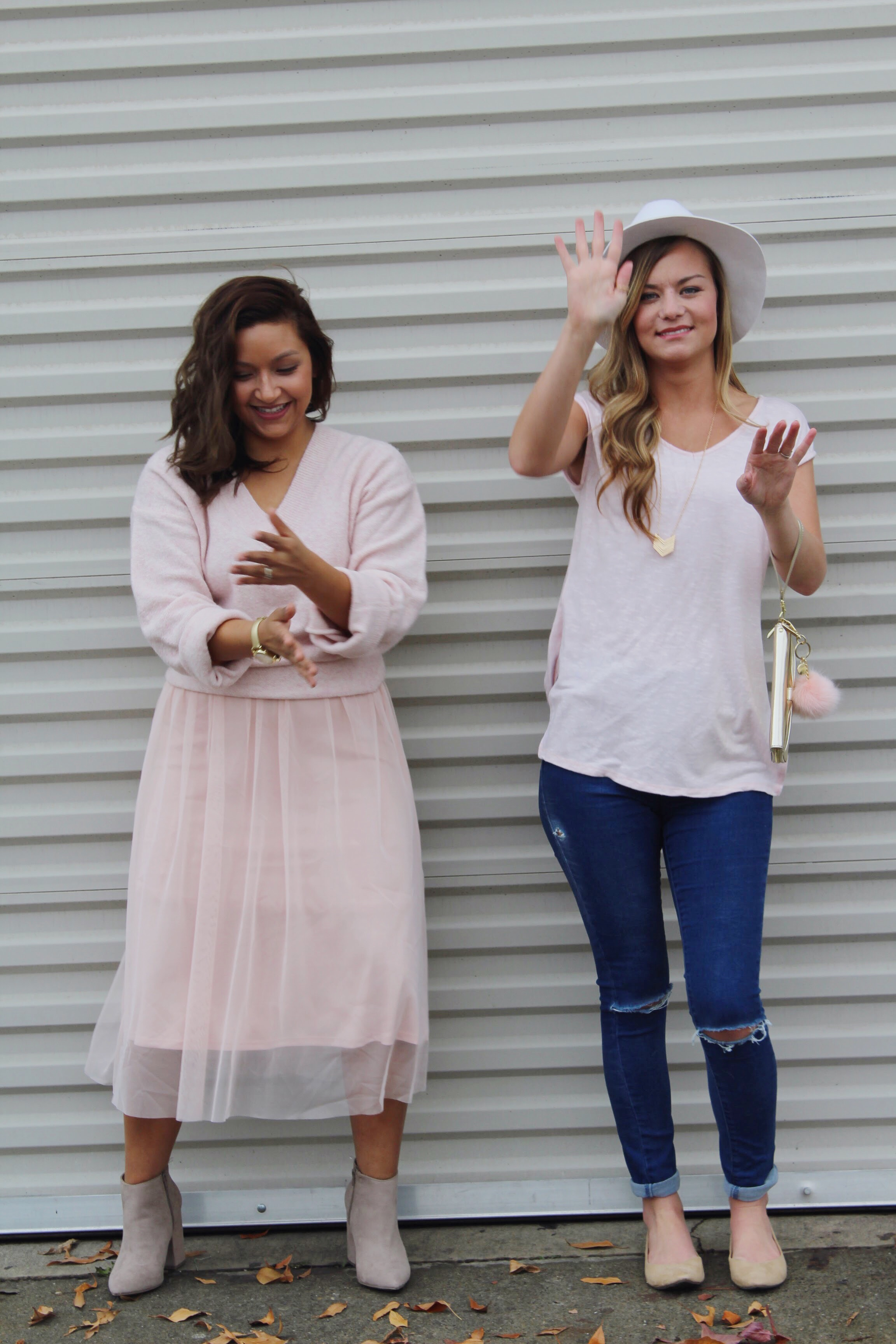 Monochromatic Inspired Looks with millennial pink