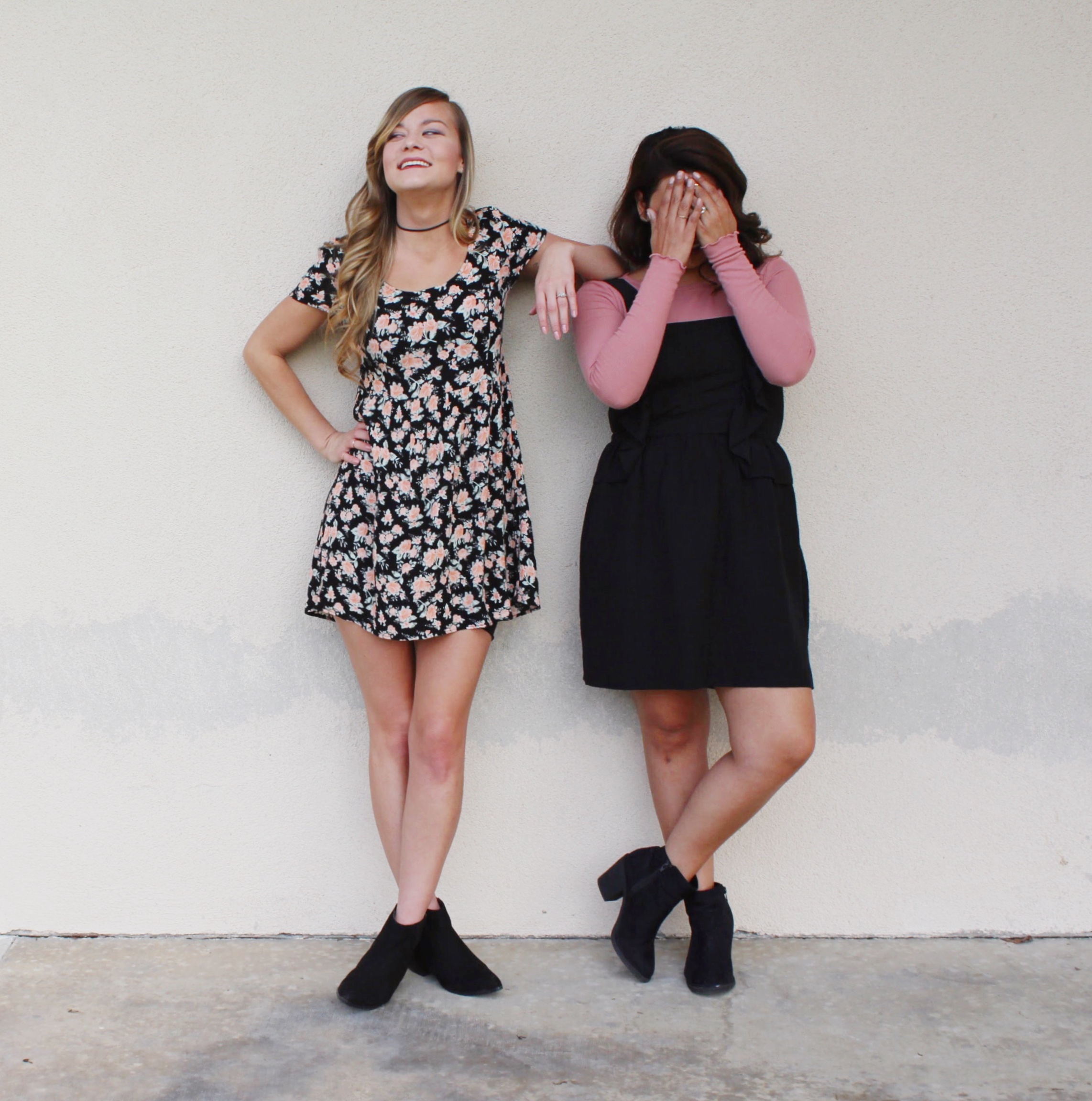 Floral Dress and Dress Jumper with Frills