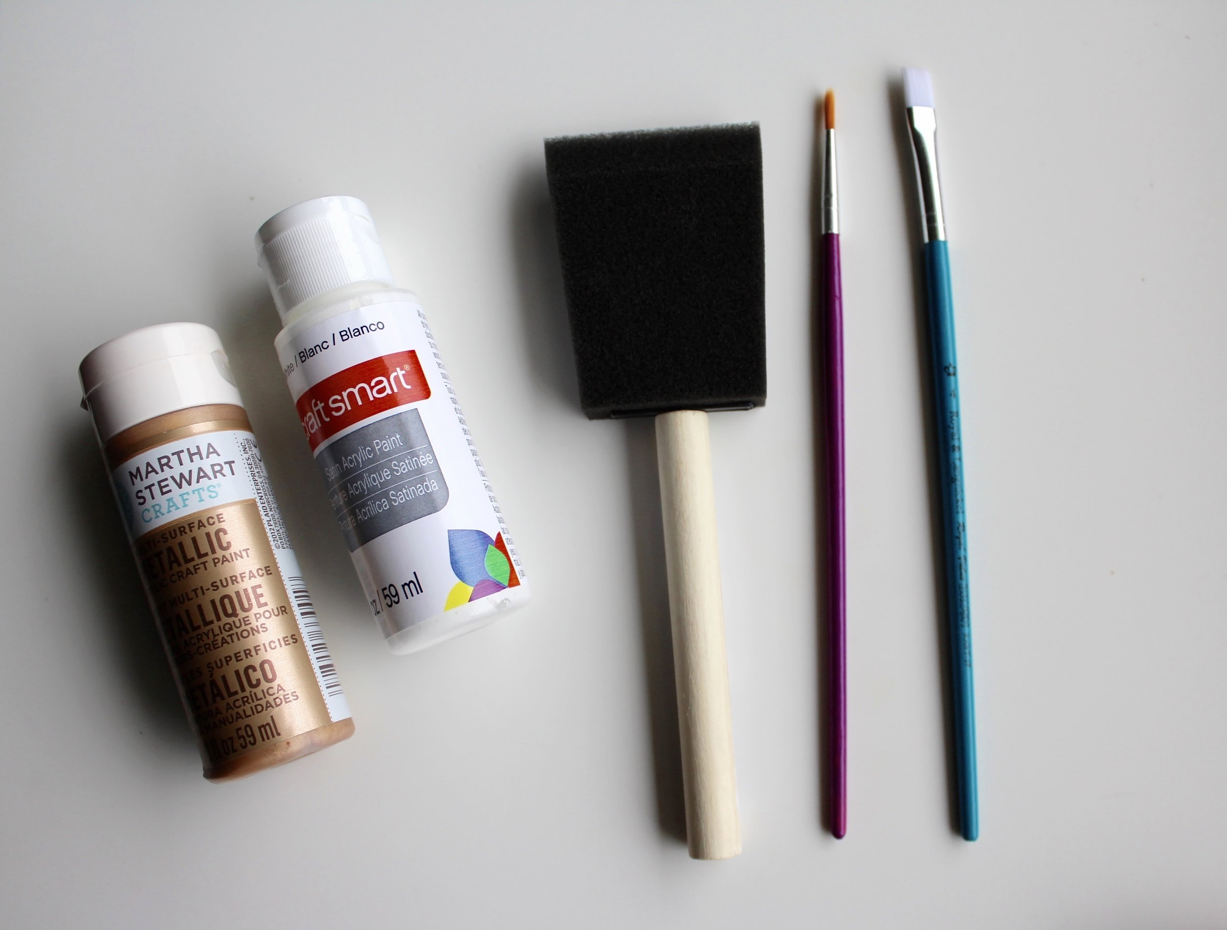 Gold Martha Stewart Craft Paint with Sponge Brush